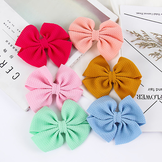 1pcs Kids / Toddler Girls' Active / Sweet Solid Colored Bow Hair Accessories White / Black / Purple