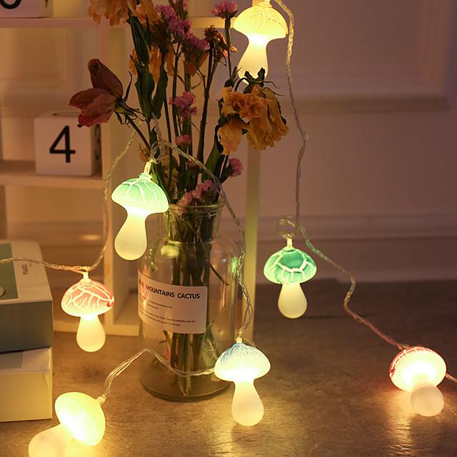 Champignon fée chaîne lumineuse led chaîne lumières de noël en plein air rue guirlande lampe pour chambre salon décoration