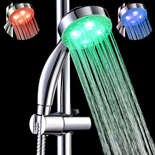 sds-a25 3 색 온도에 민감한 led 색상 변경 손 샤워