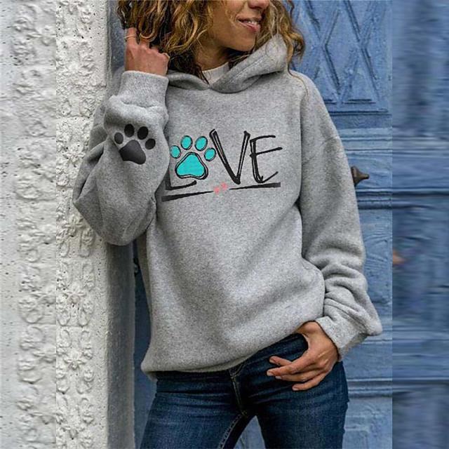Women's Pullover Hoodie Sweatshirt Geometric Daily Casual Hoodies Sweatshirts  Gray