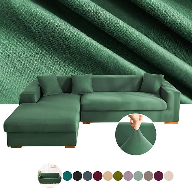 Housse de canapé Couleur Pleine / Classique Teinture Polyester Literie