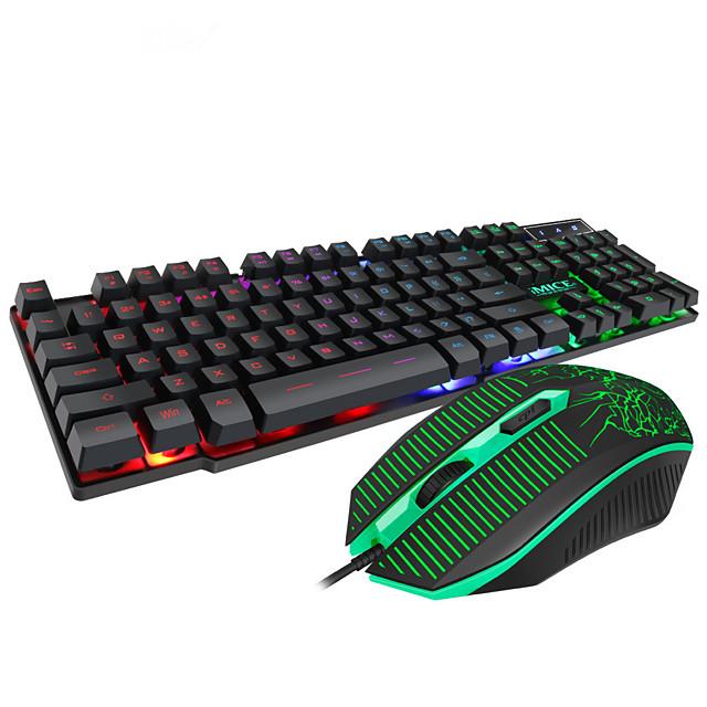 mk-680 gamingtangentbord för stationär bärbar dator flytande keycap-bakgrundsbelyst spelmus och tangentbord för dator
