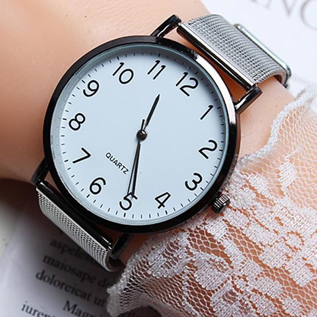 Dames Quartz Horloge Kwarts Stijlvol Modieus Vrijetijdshorloge Analoog Rose Goud Zwart Goud / Een jaar / PU-leer