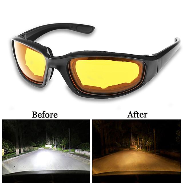 UV400 lunettes de conducteur de vision nocturne anti-éblouissement conduite de nuit lunettes de lumière améliorées lunettes de soleil de mode lunettes accessoires de voiture
