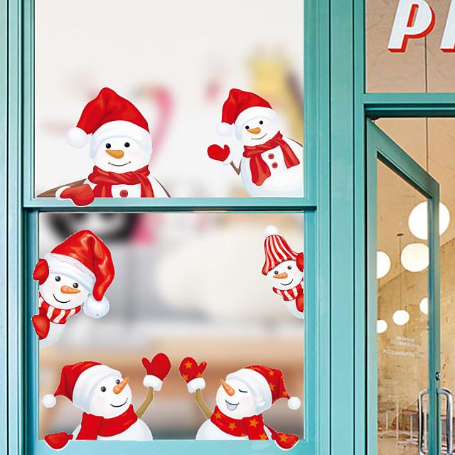 Kerstmis Muurstickers Woonkamer, Verwijderbaar PVC Huisdecoratie Muurtattoo