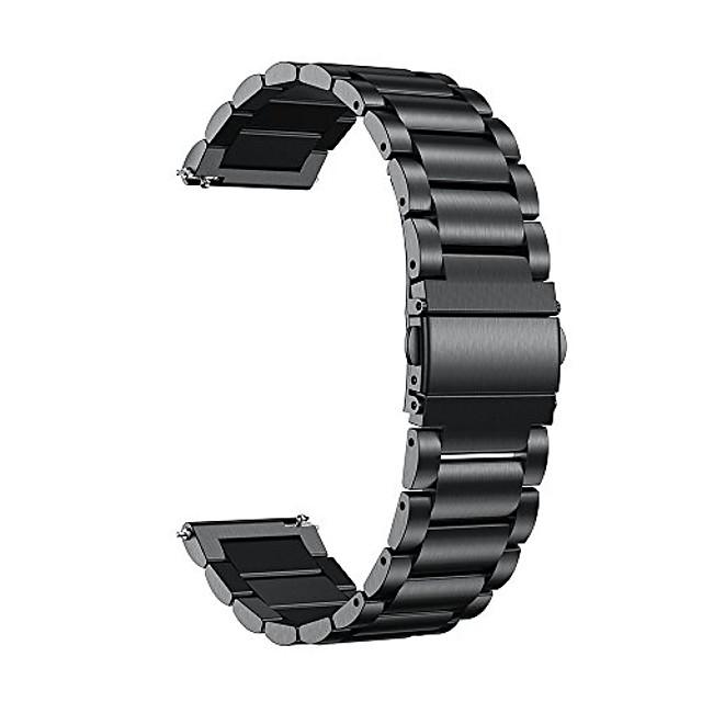 compatibil pentru benzi vivoactive 4s, brățară de ceas din oțel inoxidabil cu eliberare rapidă de 18 mm, compatibilă cu ceas inteligent Garmin vivoactive 4s (40mm), vivomove 3s (39mm), negru