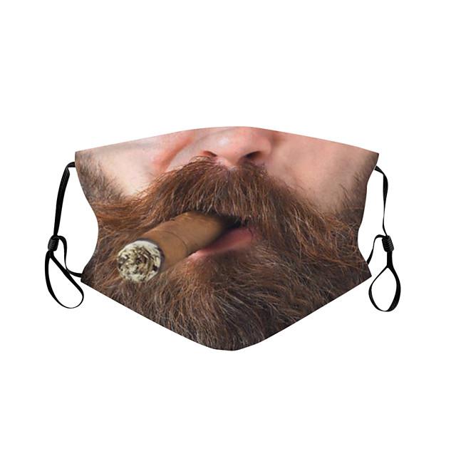 1 pc impression numérique masque personnalisé visage masque drôle masque anti-poussière masque respirant réglable en coton polyester avec noyau intérieur pour adulte