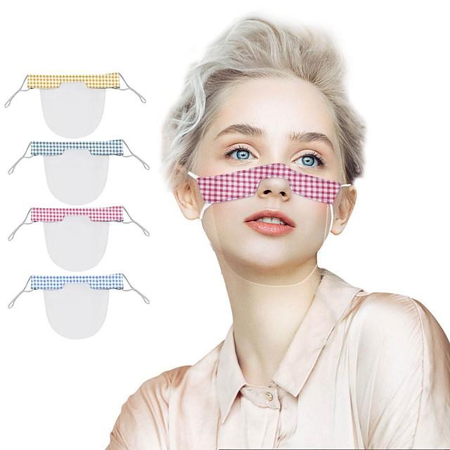 Maschere per labbra da 2 pezzi maschere trasparenti antiappannamento maschere per stampa in pvc per la stampa a tinta unita sordomuti