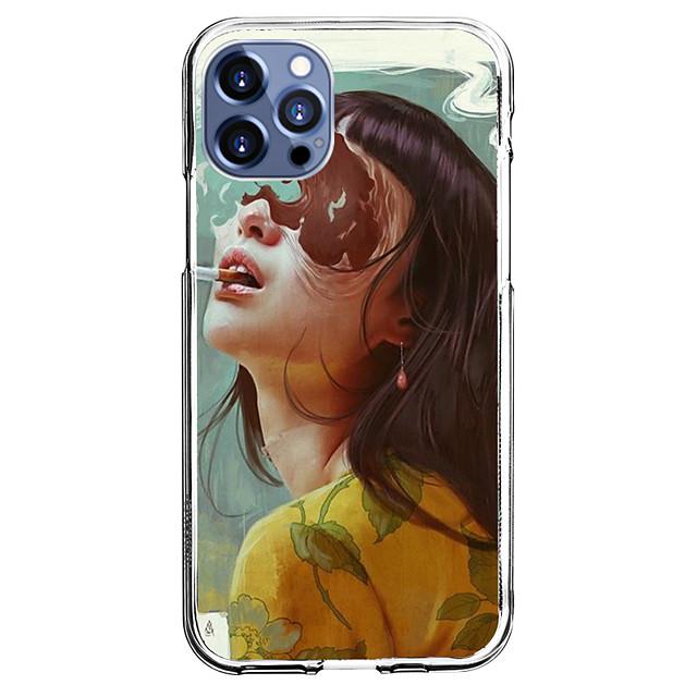 Retrato Caso por Apple iPhone 12 iPhone 11 iPhone 12 Pro Max Diseño unico Estuche protector con protector de pantalla Antigolpes Funda Trasera TPU