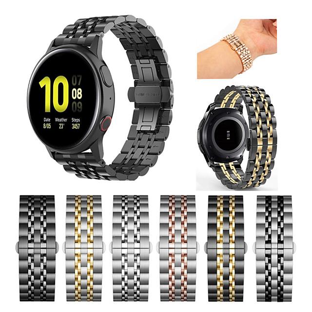 Watch Band na Gear Sport / Gear S3 Frontier / Gear S3 Classic Samsung Galaxy Pasek sportowy Stal nierdzewna Opaska na nadgarstek