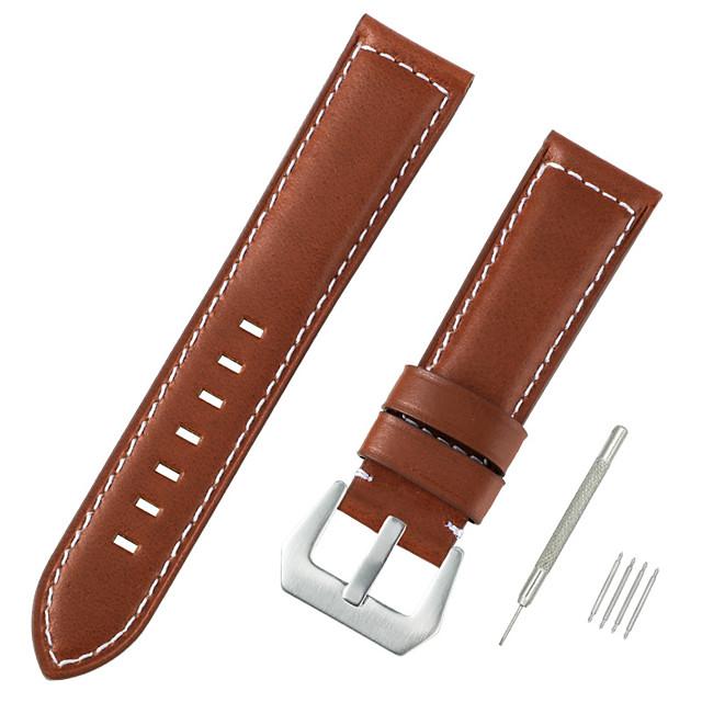 vera pelle / Pelo di vitello Cinturino per orologio  Nero / Blu / Marrone 20cm / 7.9 Pollici 2.2cm / 0.9 Pollici / 2.4cm / 0.94 Pollici / 2.6cm / 1.02 Pollici