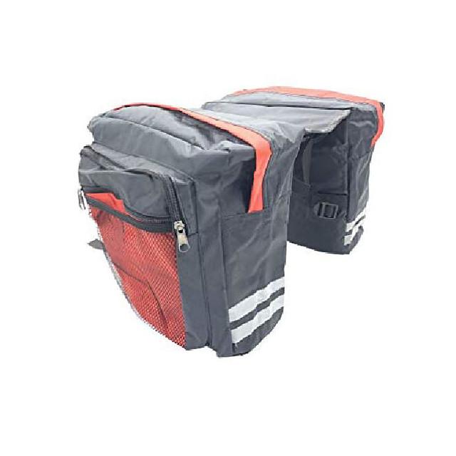 bagagedragertas fietstas fietstas fietszadeltassen militair voor klimmen (rood, 23l)