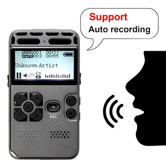 professionale hd digitale vocale registrazione a un pulsante riduzione del rumore riduzione del dittafono 8g registratore di grande capacità espansione supporto ricarica usb