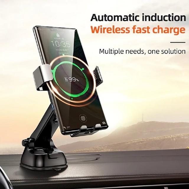 joyroom jr-zs220 caricatore wireless per auto con bloccaggio automatico 15w sensore a infrarossi a carica rapida supporto per telefono per auto supporto per caricabatterie wireless qi per iphone