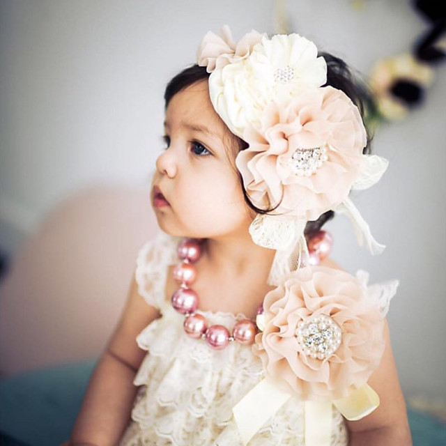 1pcs Toddler Girls' Sweet Floral Lace / Floral Style Hair Accessories White / Black / Blue