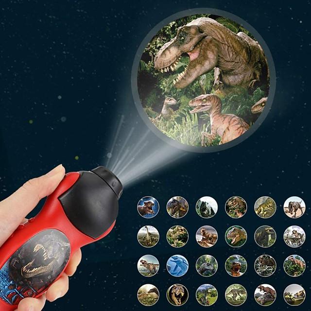 Lampes de poche Projecteurs Dinosaure Eclairage LED Jouets étranges Alimenté par des piles Pile bouton Enfant pour des cadeaux d'anniversaire et des cadeaux 1 pcs Usage quotidien