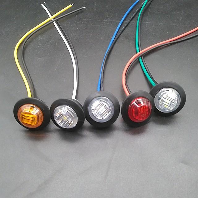 sencart 10 pz lampadine per moto / auto luci di posizione 3 led luci di parcheggio marcatore a led 12v luci di rimorchio per indicatori di direzione laterali per camion luci di segnalazione a led /
