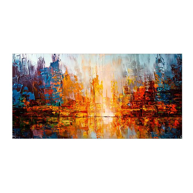ulje na platnu ručno slikani apstraktni krajolik suvremeni moderni razvučeno platno / valjano platno s rastegnutim okvirom