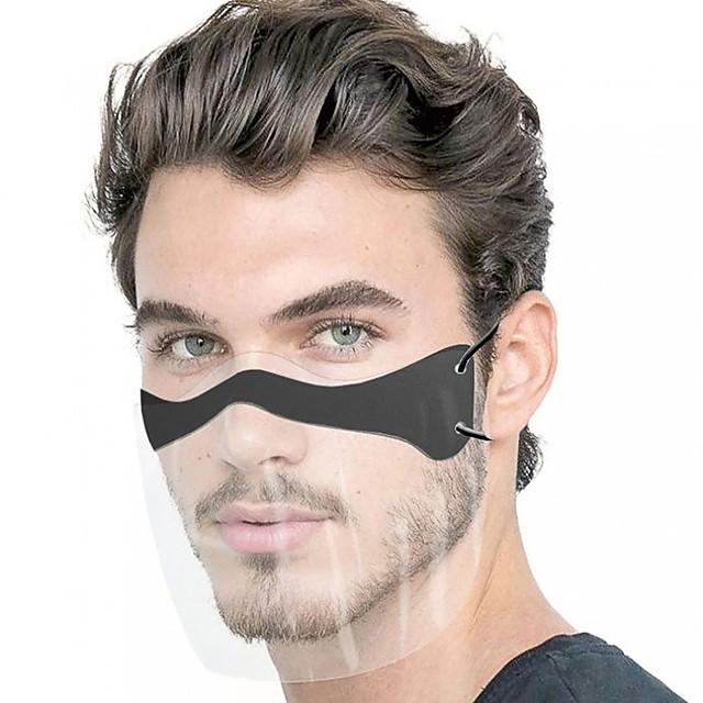 Maschera da 10 pezzi maschera protettiva trasparente usa e getta a prova di schizzi maschera antipolvere per adulti