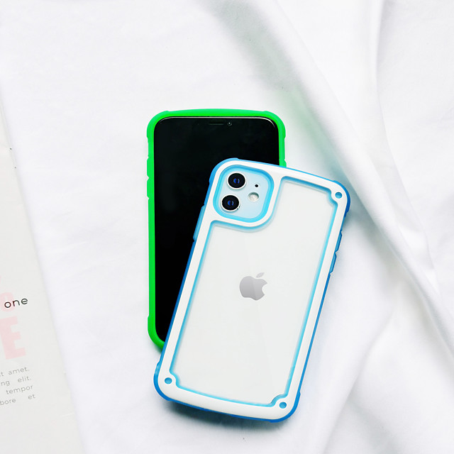 hoesje Voor Apple iPhone 12 / iPhone 12 Pro Max / iPhone 12 Pro Schokbestendig Achterkant Effen TPU