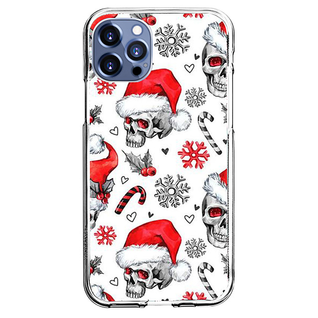 Navidad Caso por Apple iPhone 12 iPhone 11 iPhone 12 Pro Max Diseño unico Estuche protector con protector de pantalla Antigolpes Funda Trasera TPU
