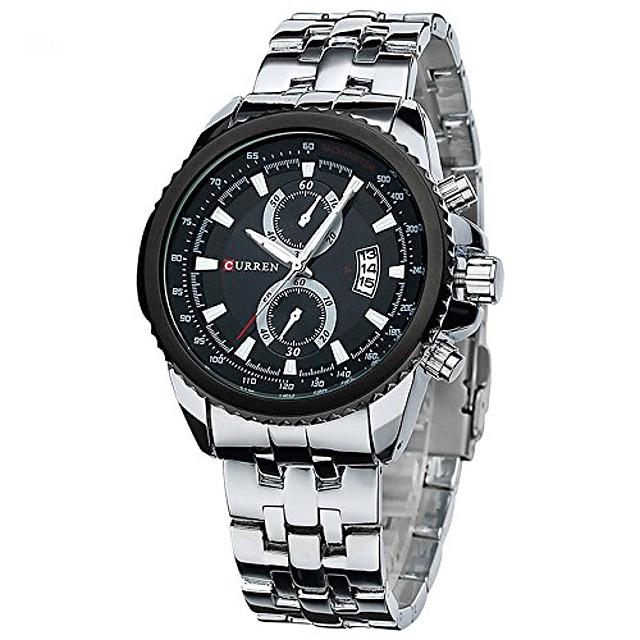 curren horloge herenmode casual jurk horloge curren 8082 datumweergave (zilver zwart)