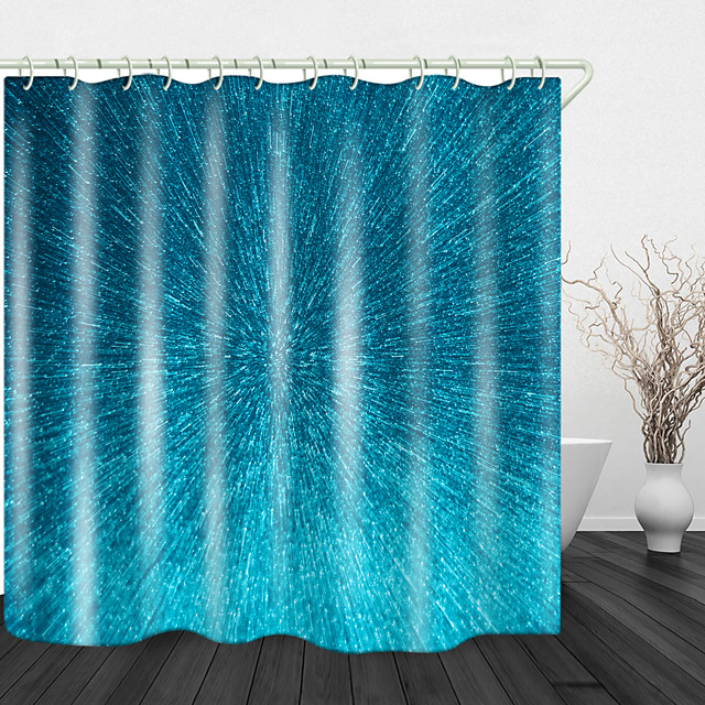 Blue Sky Raindrops Digital Printing Shower Curtain Shower Curtains  Hooks Modern Polyester New Design