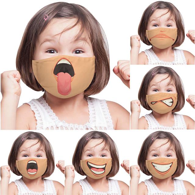 2 pezzi di espressione della personalità divertente maschera di commercio estero per bambini adulti stampa digitale una maschera personalizzata