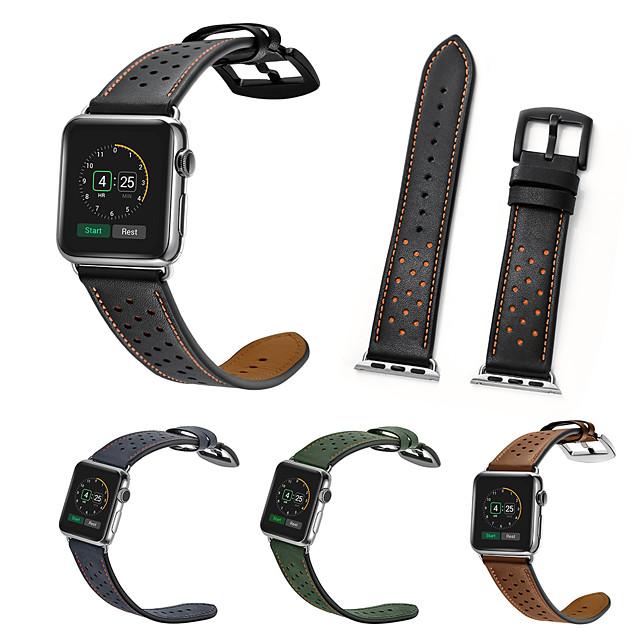 시계 밴드 용 Apple Watch Series 6 / SE / 5/4 44mm / Apple Watch Series 6 / SE / 5/4 40mm / Apple Watch 시리즈 3/2/1 38mm Apple 가죽 루프 천연 가죽 손목 스트랩