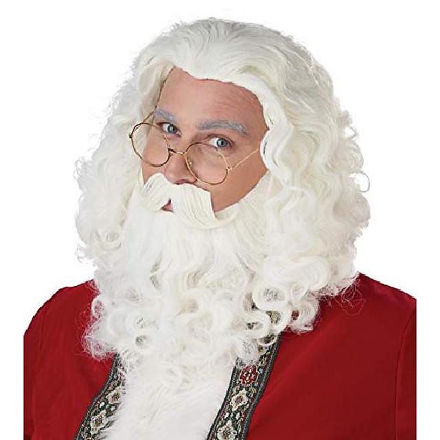 kerstman pruik, baard en snor set, standaard