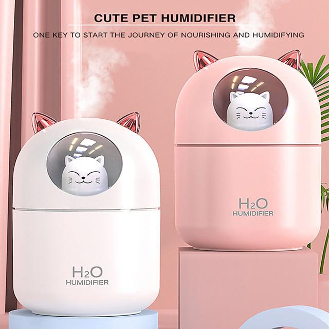 humidificateur d'air pour chat diffuseur d'huile essentielle de lapin éliminer l'électricité statique technologie de pulvérisation d'air propre 7 lumières de couleur 2021
