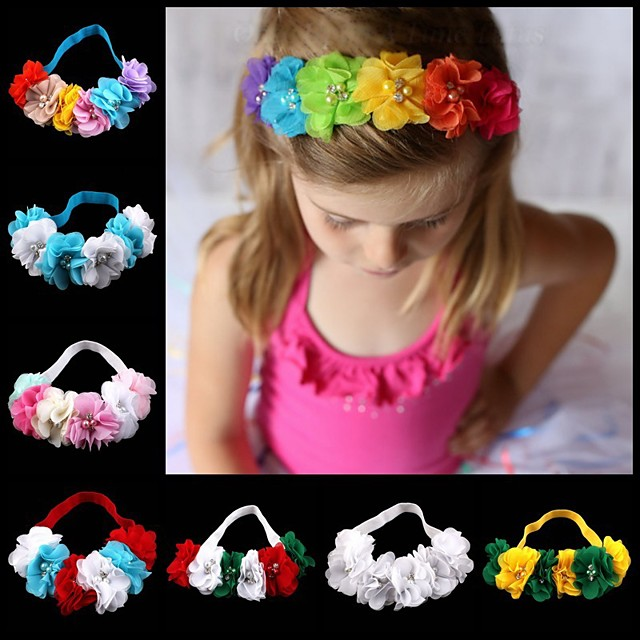 1pcs Infant Girls' Sweet Floral Floral Style Hair Accessories White / Blue / Purple
