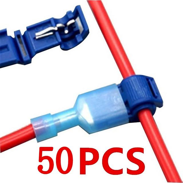50stk (25 sæt) hurtige elektriske kabelforbindelser snap splejsning lås ledning terminal krympetråd stik vandtæt elektrisk stik