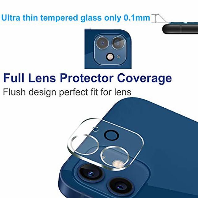 téléphone Protection Ecran Apple Verre Trempé iPhone 12 iPhone 11 iPhone 12 Pro Max iPhone 11 Pro iPhone 11 Pro Max 2 pcs Haute Définition (HD) Anti-Rayures Protecteur d'objectif pour appareil photo