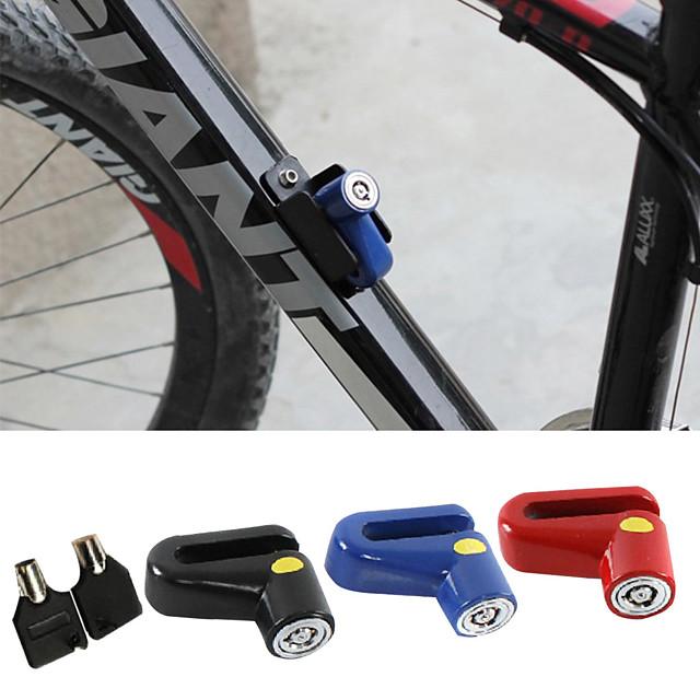 Fiets Sloten draagbaar Lichtgewicht materiaal Stabiliteit Duurzaam Anti-verlies Voor Racefiets Mountainbike Triatlon Fiets met vaste versnelling Wielrennen Roestvast staal Zwart Rood Blauw 1 pcs
