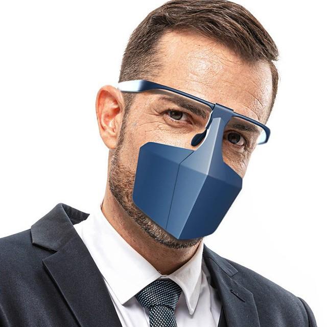 10 pièces masque d'isolation de protection couvrant le visage masque anti-buée anti-éclaboussures et gouttelettes anti-virus et anti-poussière
