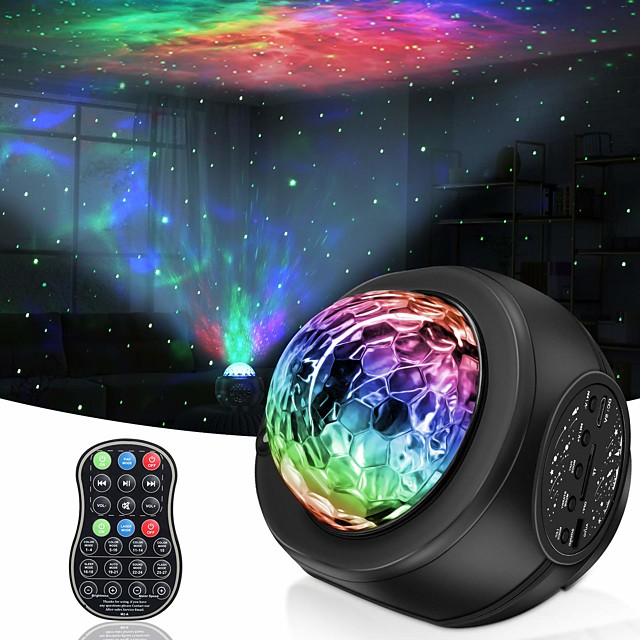 Star Galaxy Projector Licht Projector licht Etäohjattu Sterrenlichtprojector Afstandsbediening Feest Bruiloft Lahja Meerkleurig