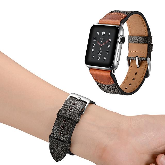 時計バンド のために Apple Watchシリーズ6 / SE / 5/4 44mm / Apple Watch Series 6 / SE / 5/4 40mm / Apple Watchシリーズ3/2/1 38mm Apple レザーループ 本革 リストストラップ
