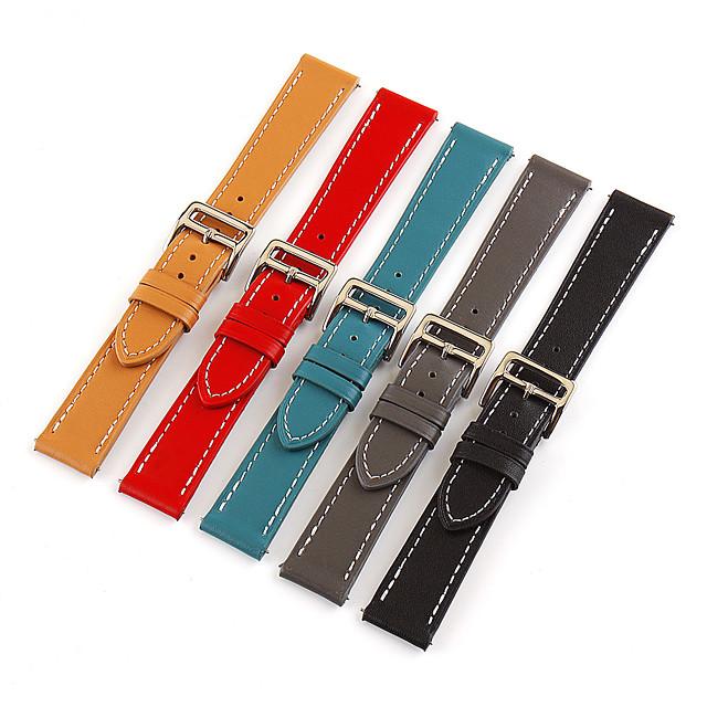 Ремешок для часов для Huawei Watch 2 / Watch 2 Pro / Huami Amazfit Bip Younth Watch TicWatch / Samsung / Amazfit Кожаный ремешок Натуральная кожа Повязка на запястье