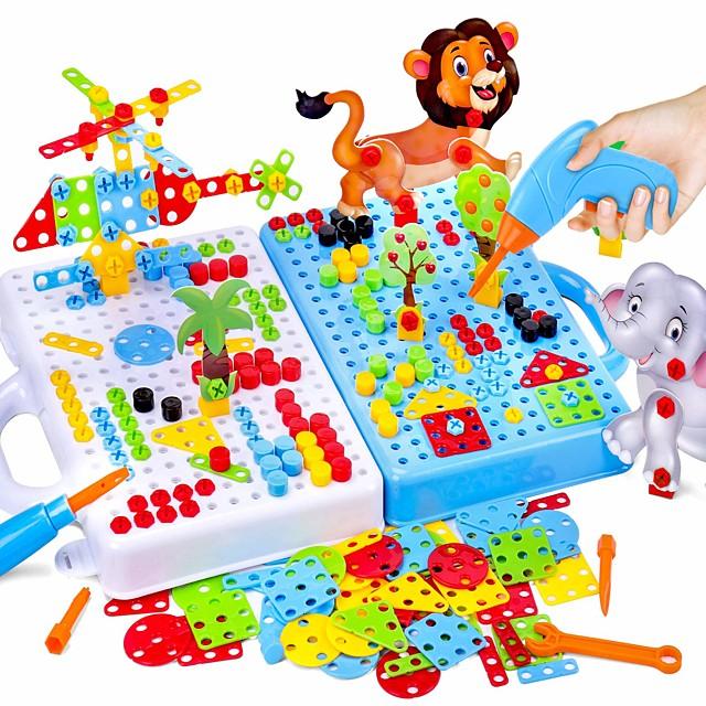 Bouwblokken Bouwset speelgoed Boorset 198 pcs STEAM speelgoed verenigbaar ABS + PC Legoing transformable Creatief Leerzaam Jongens Speeltjes Geschenk / Kinderen