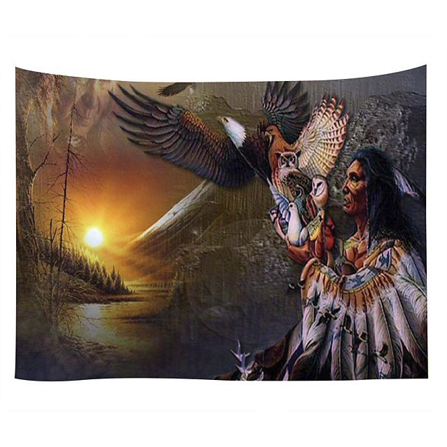 настенный гобелен художественный декор одеяло занавеска скатерть для пикника висит дома спальня гостиная общежитие украшения полиэстер древние индейцы