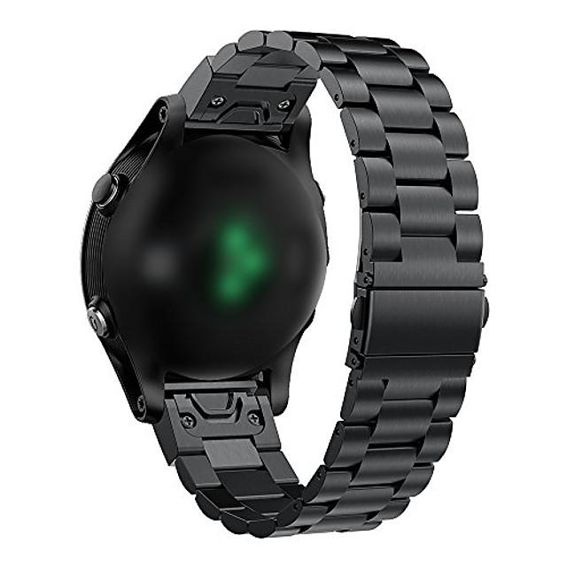 kompatibilis a Garmin Fenix 6/6 Pro / 6 zafír szalag rozsdamentes acél gyorskioldó készlettel, 22 mm-es szalagokkal a Fenix 6gps karórához (fekete)