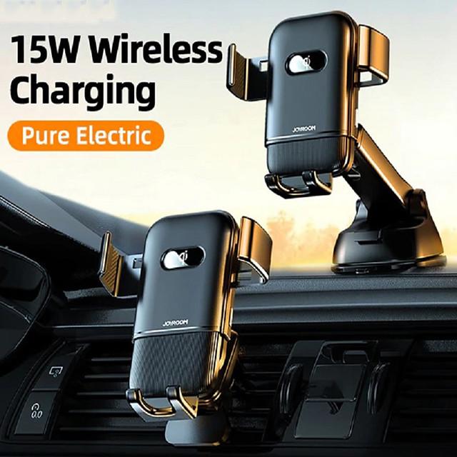 joyroom jr-zs216 15w caricatore wireless qi supporto per telefono per auto supporto di ricarica rapida a infrarossi intelligente supporto per telefono auto per supporto per telefono iphone