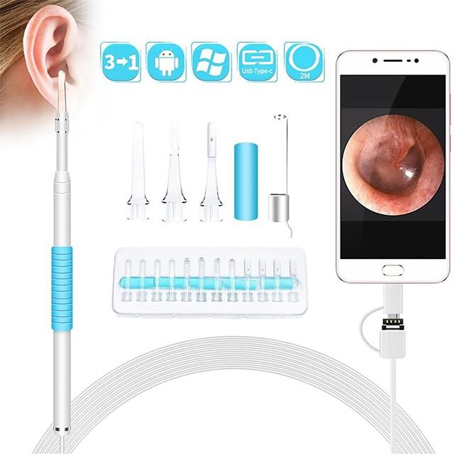 1.3 مليون ملعقة أذن بصرية منظار داخلي عالي الدقة وملعقة أذن بصرية للأطفال يرون الأسنان بأمان وملعقة أذن مضمونة 720p 2m