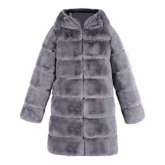 elegante donna pelliccia sintetica sintetica morbida calda gilet senza maniche gilet giacca gilet cappotto esterno (2xl, grigio 4)