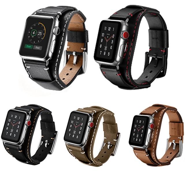 Pogledajte Band za Apple Watch Series 6 / SE / 5/4 44mm / Apple Watch Series 6 / SE / 5/4 40mm / Apple Watch Series 3/2/1 38mm Apple Kožni remen Prava koža Traka za ruku