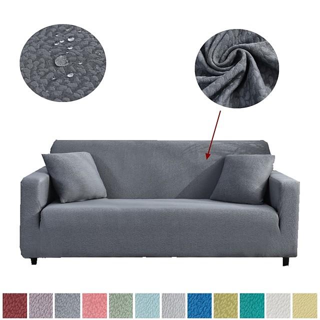 Housse de canapé Couleur Pleine Relief Polyester Literie