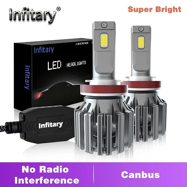 infitary haute puissance 100w 12000lm sans erreur canbus lampe de phare de voiture super lumineuse h1 h11 led h7 h27 880 9005 hb3 9006 hb4 ampoule de voiture