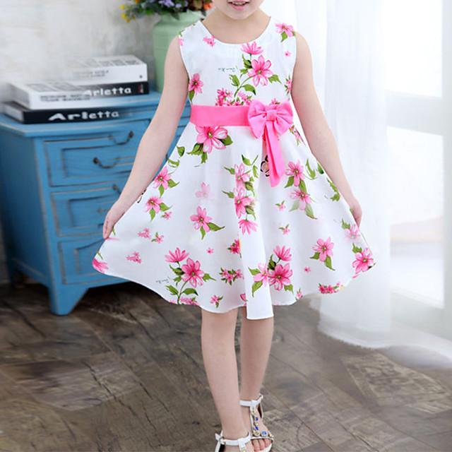 Kid's Little Girls' Dress Multi Color big flower Floret Dresses