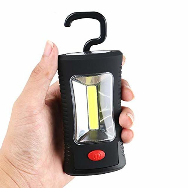 Crochet pliant magnétique portable lampe d'inspection de travail lampe de poche torche lanterna camp tente lampe de poche aaa porte-clés, torche magnétique